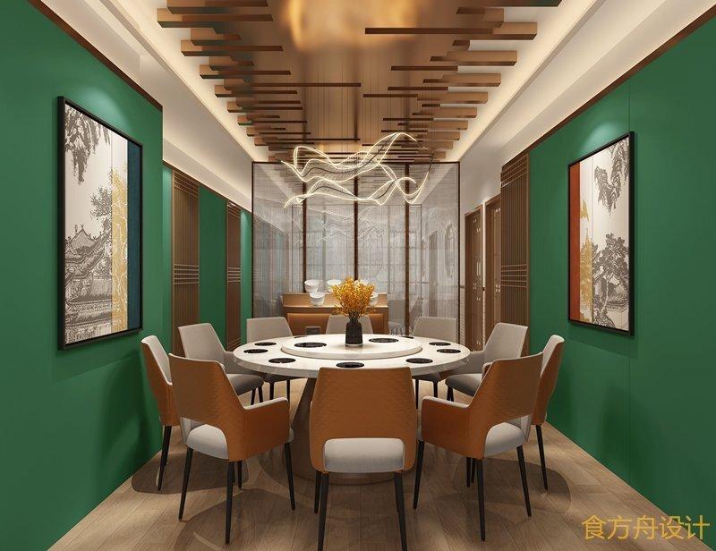 涪陵现代中式火锅店设计