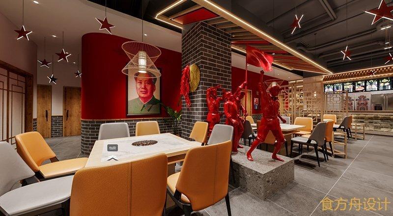 巴中大队长怀旧火锅店设计