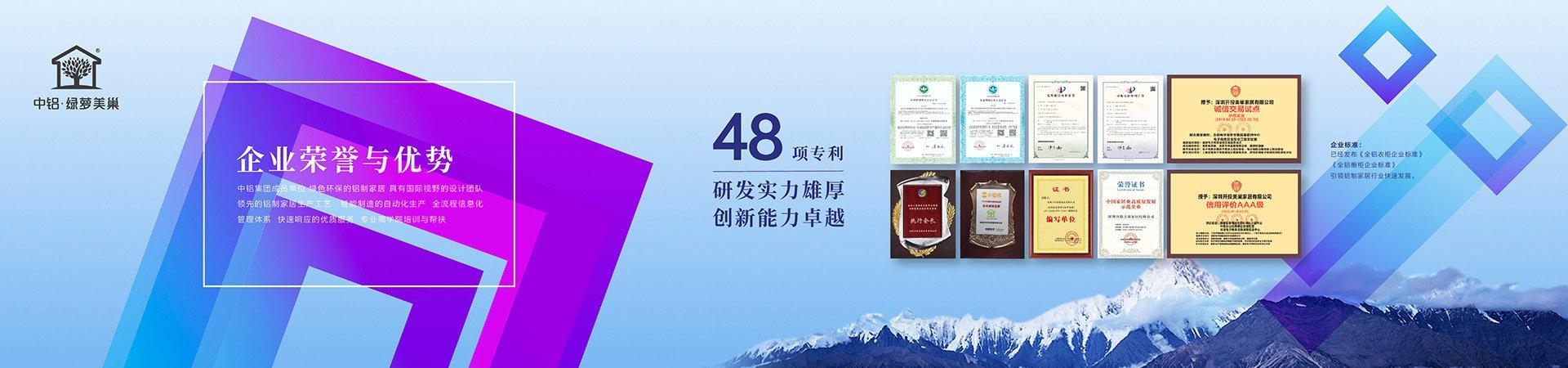 北京全铝家居-资质荣誉