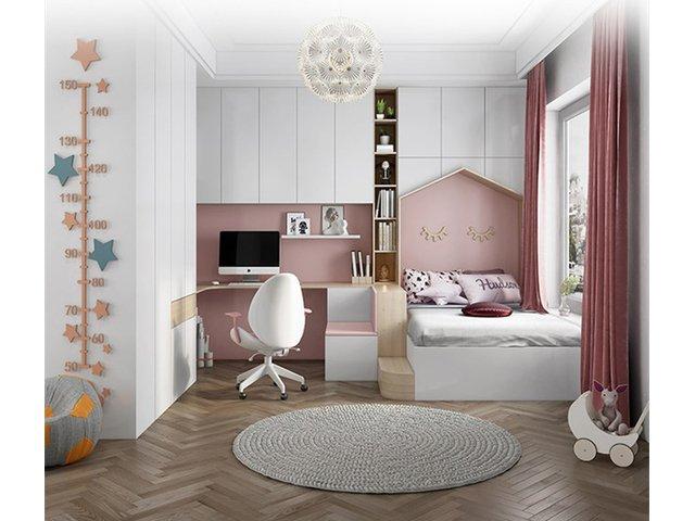 粉红公主儿童房