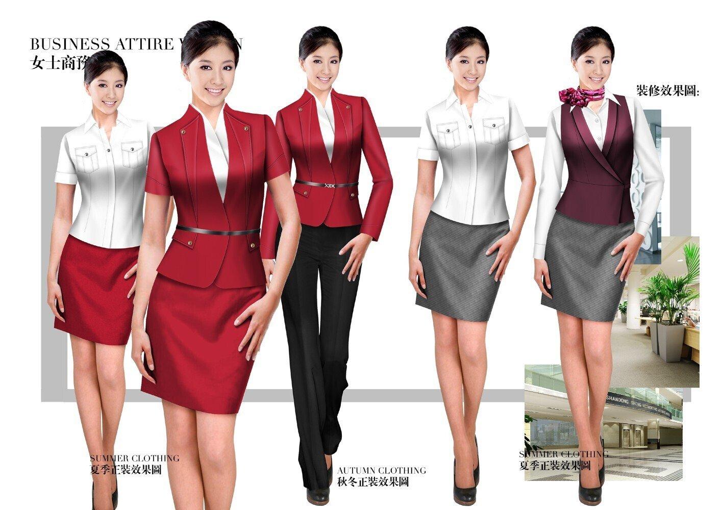 女时尚职业服装设计效果图51260