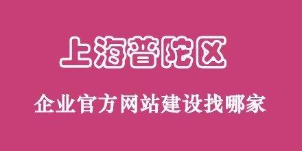 上海普陀区正规公司官网设计