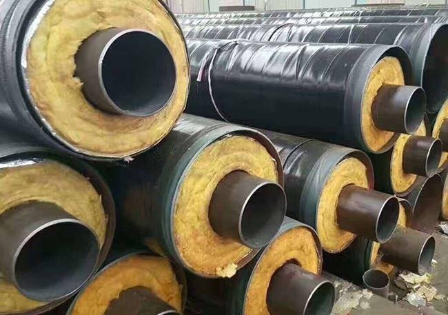制热管道用钢套钢岩棉保温螺旋钢管