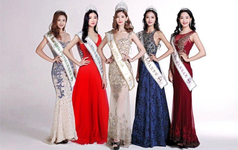 洲际小姐中国大赛五甲合照