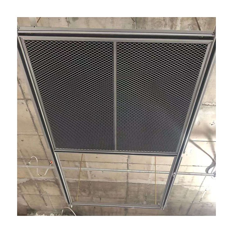 Decorative expanded metal mesh ceiling