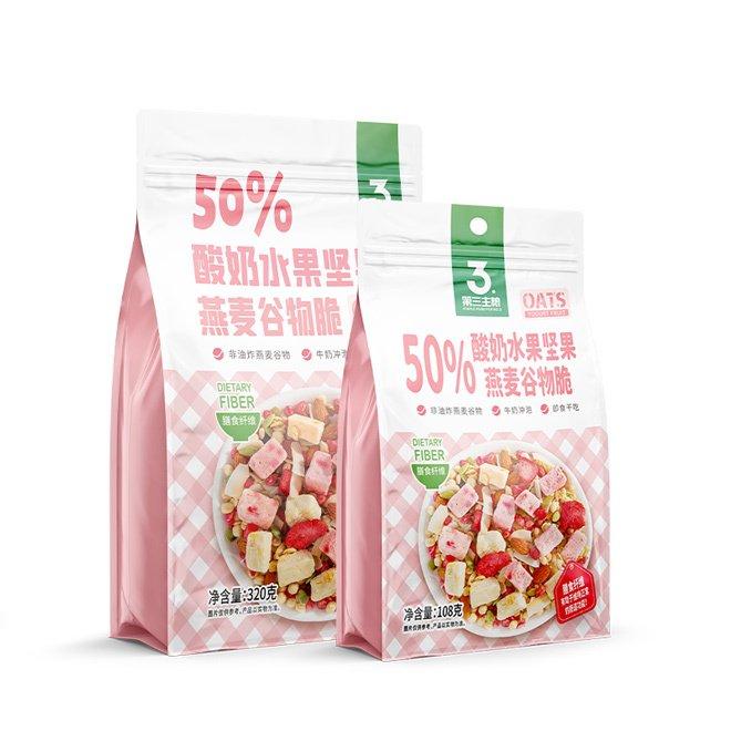 50%酸奶水果坚果麦谷物脆  320g包 108g包