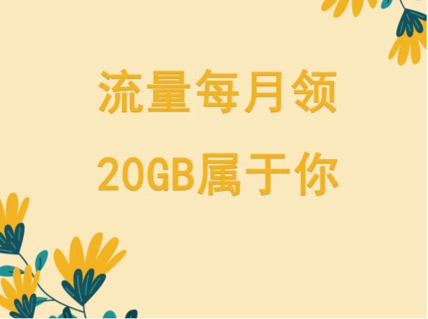 【20GB免费流量】仅限山西省联通手机号用户领取