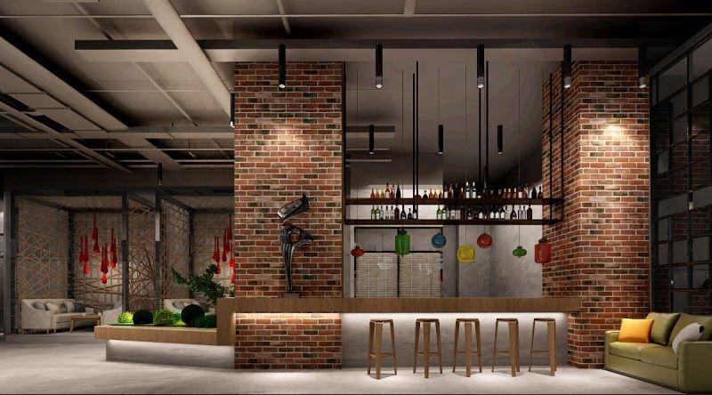 现代时尚工业风-泰诚财富办公室装修设计工程