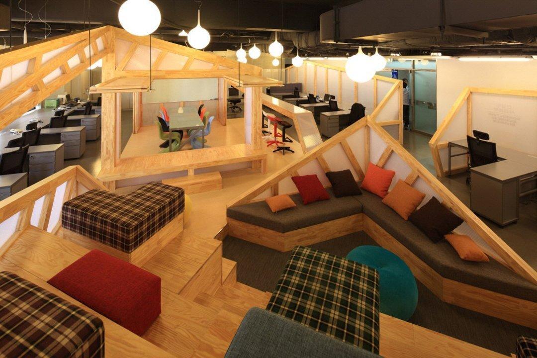现代中式风格上海办公空间装修设计