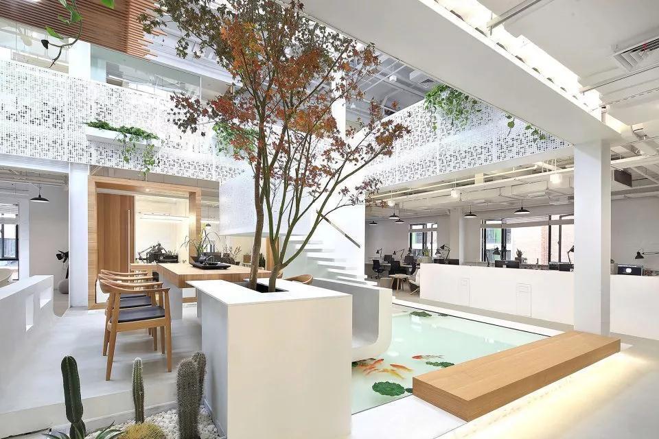 LOFT办公室装修设计,白色底色令人神往
