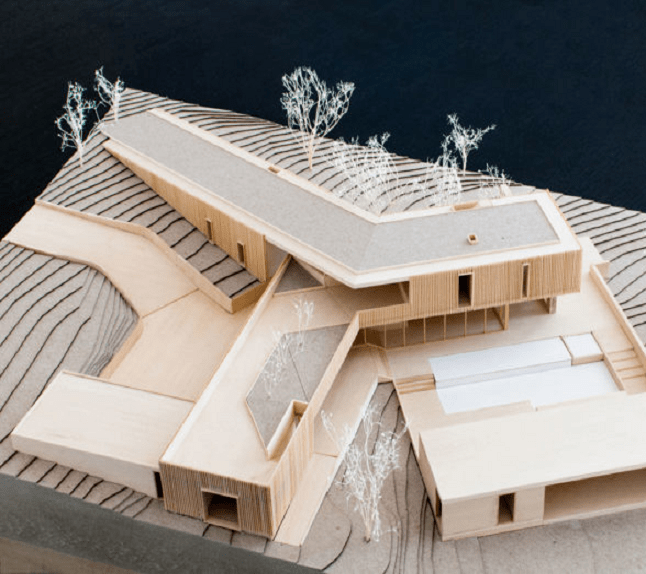 What scale is used in most architectural models?