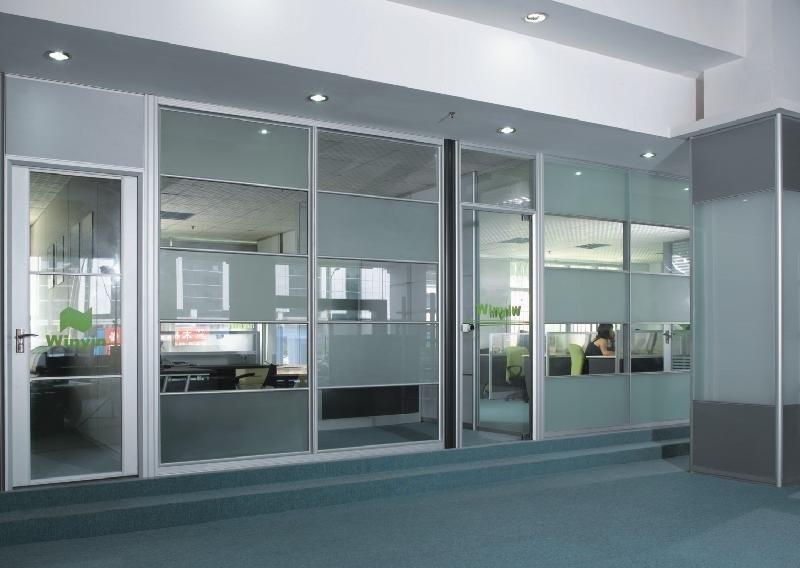 成都办公室玻璃门案例