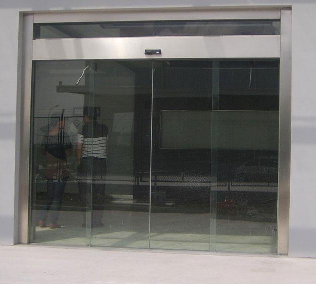 银行无框玻璃自动门案例