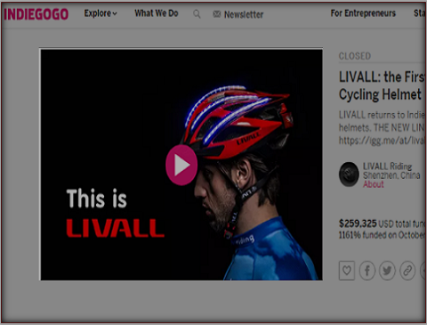 LIVALL智能头盔Indiegogo众筹海外传播