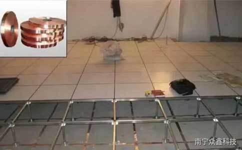 机房静电地板铺设
