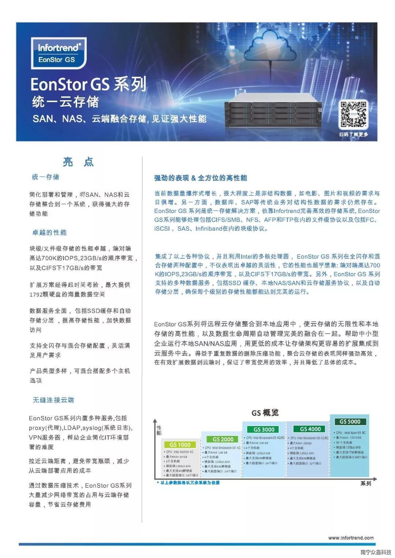 Infortrend普安存儲-EonStor GS