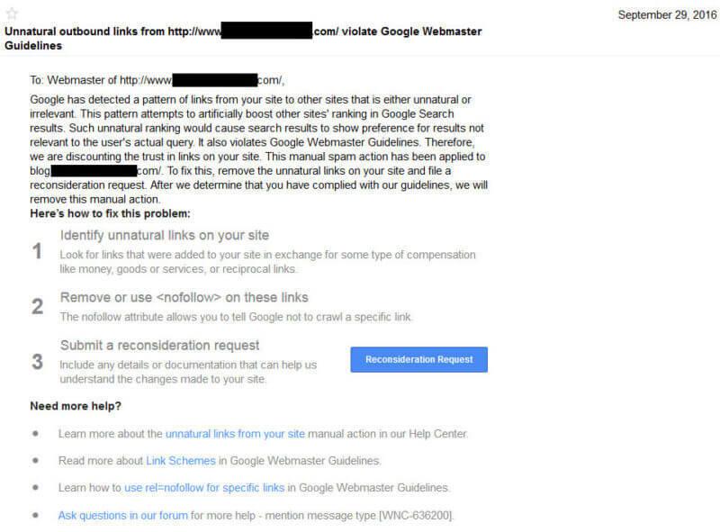 如何避免来自谷歌的出站链接惩罚