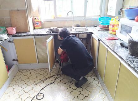 彭水中学教师住宿楼厨房下水道疏通案例