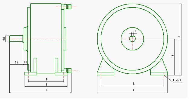 电涡流制动器安装尺寸