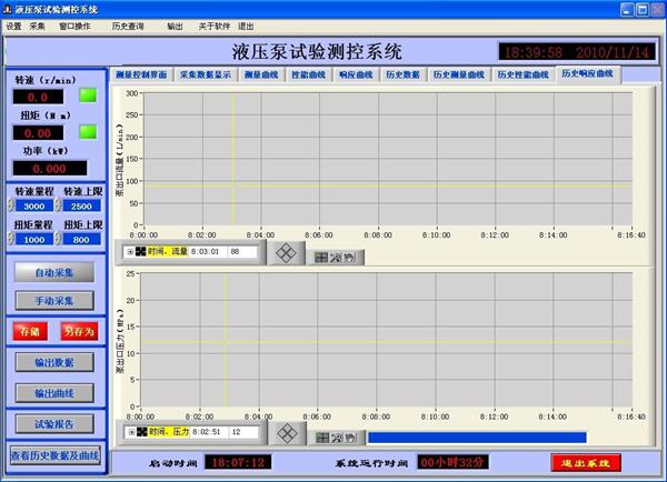 液压马达测试系统软件界面