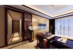 哈尔滨 招商贝肯山 110米 中式风格装修效果图