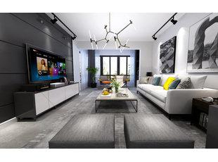 哈尔滨玫瑰湾150平米黑白灰主题北欧风格装修设计案例