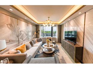 哈尔滨远大都市明珠113㎡现代风格装修设计图