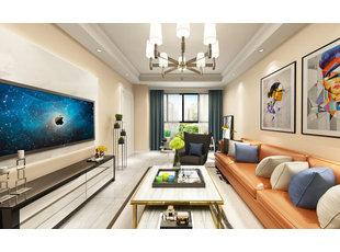 哈尔滨汇龙湾公馆98平米现代风格装修设计方案