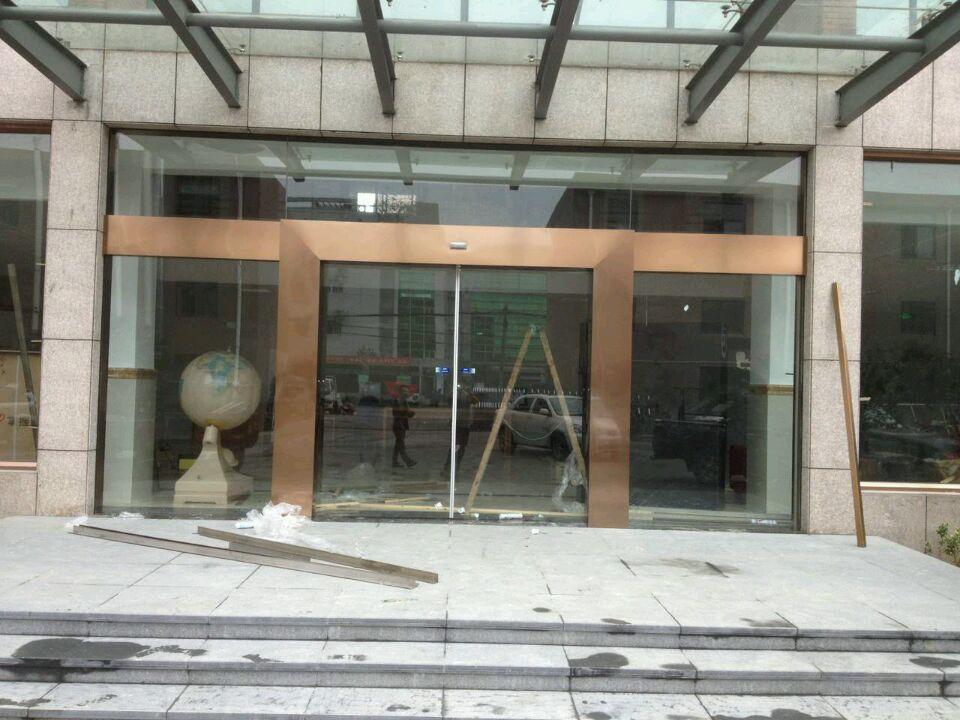 成都感应门玻璃门案例