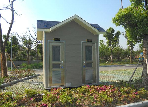 简易双蹲位公园环保厕所