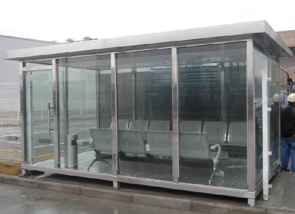 不锈钢室外吸烟亭