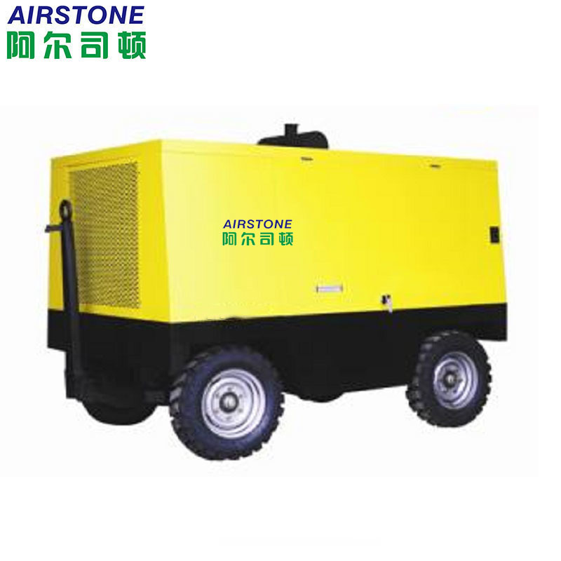 Portable screw air compressor with diesel engine