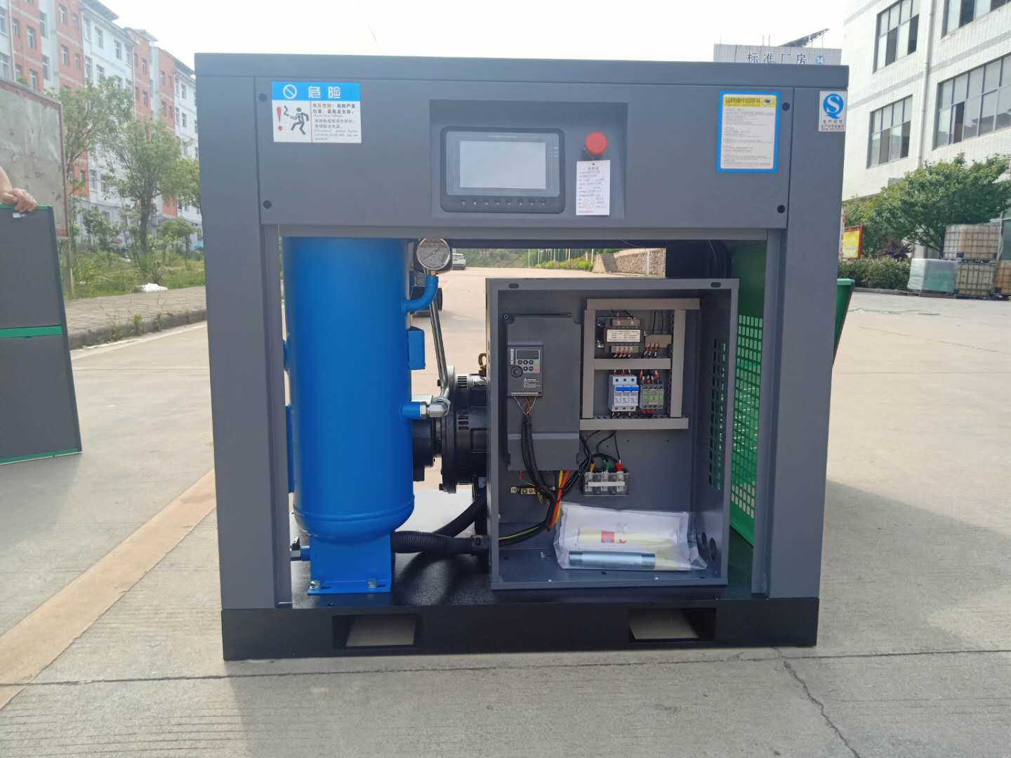 15kw direct normal 10 bar air compressor for mining