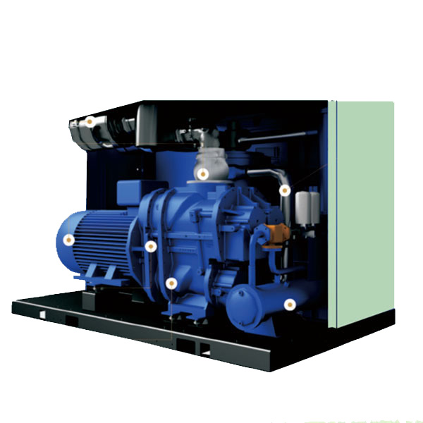 AS-250BD oil-flooded double-stage screw air compressor