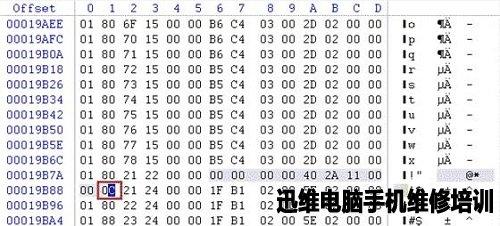 蓝色选中部分是P表的一个缺陷条目