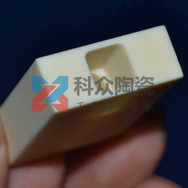 99氧化铝工业陶瓷块盲孔加工