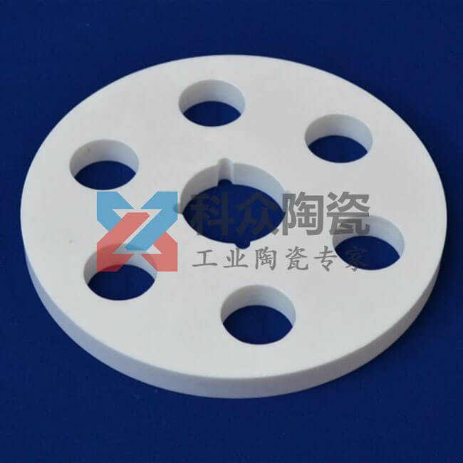 95氧化铝工业陶瓷环多孔