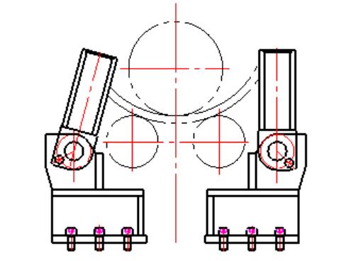 卷板機錐筒裝置.
