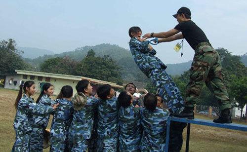 拓展训练培训项目:信任背摔