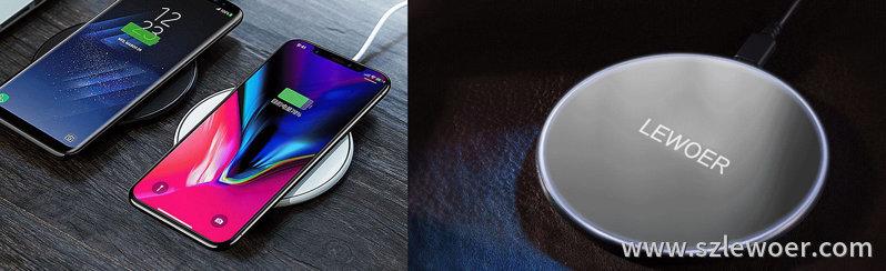 利行者LEWOER桌面无线充电器怎么使用操作示意图
