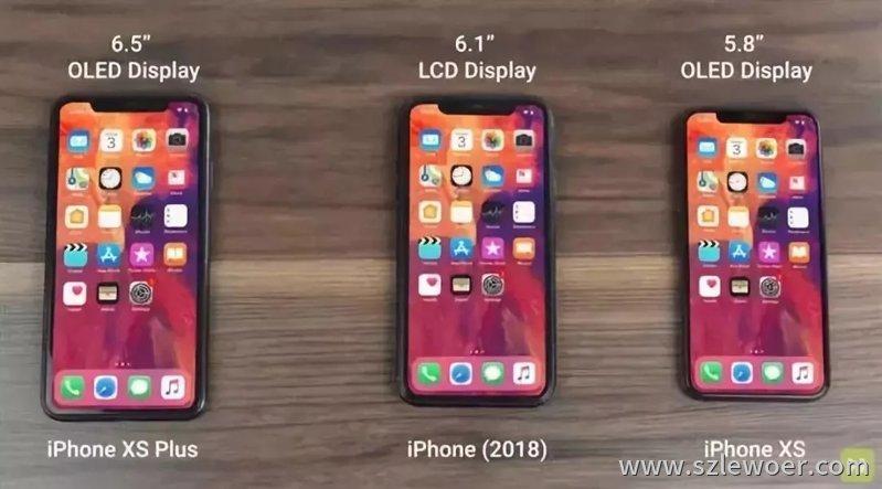 苹果三款新机iPhone XS、iPhone(2018)、iPhone XS Plus