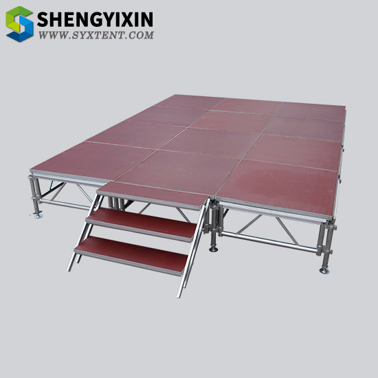 Red Aluminum stage