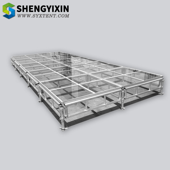Glass Aluminum stage