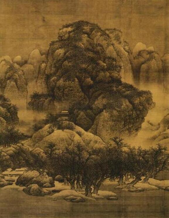 范宽《雪景寒林图》
