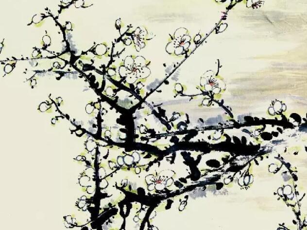 画梅花的颜料所画白梅