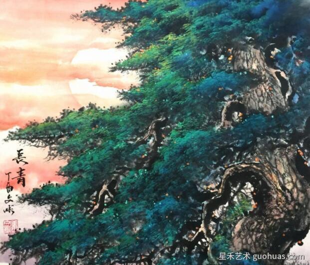 松树怎么画的作品