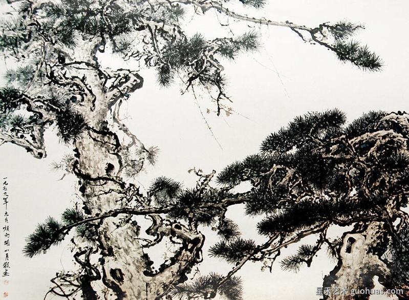 松树怎么画的作品-2
