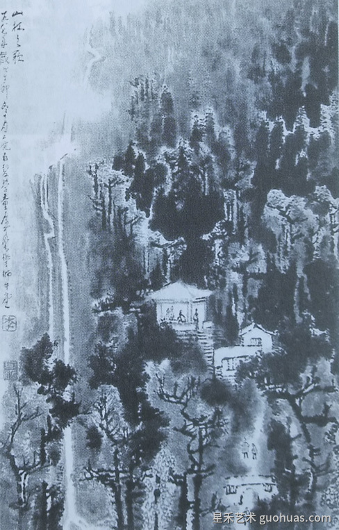 林风眠《黄山》