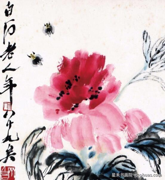 中国画牡丹的创作写意画法