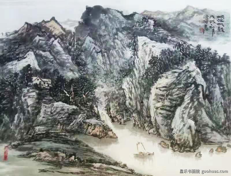 何老师山水画-012